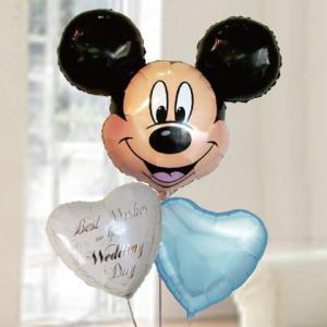 バルーン電報 結婚式 ディズニー ミッキー&ウエディングバルーン 人気の浮くバルーンギフト|bs-olive