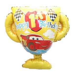 バルーン電報 誕生日 1才 ディズニー カーズ ファーストバースデー 人気の浮くバルーンギフト|bs-olive