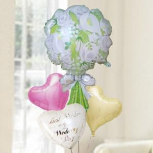 バルーン電報 結婚式 送料無料 ウエディングブーケ&ハートバルーン&ウエディングバルーン  人気のバルーンギフト|bs-olive
