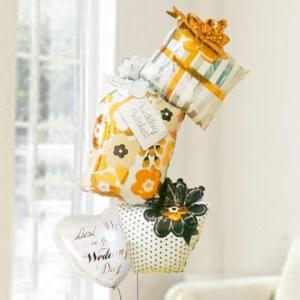 バルーン電報 結婚式 送料無料 ウエディングギフトボックス&ウエディングバルーン 人気のバルーンギフト|bs-olive