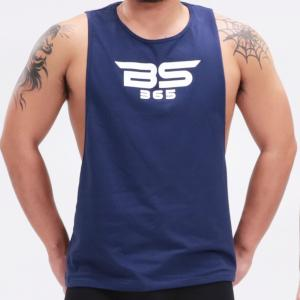 ブランドロゴ タンクトップ ネイビー|bs365