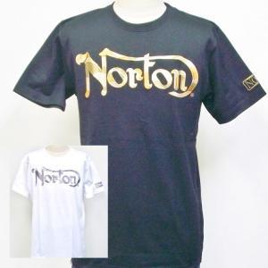 ノートン Norton カモ柄ラメ刺繍半袖Tシャツ 182N1014 アメカジ バイカー ロッカーズ 吸水速乾|bscrawler
