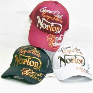 ノートン Norton 3D MAX刺繍メッシュキャップ 193N8708 アメカジ ロッカーズ バイカー リゾート|bscrawler