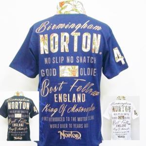 ノートン Norton リゾートリーフポロシャツ 202N1206 アメカジ バイカー クールビズ|bscrawler