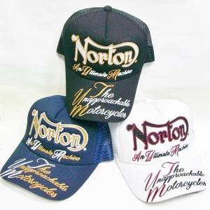 ノートン Norton ウネ刺繍メッシュキャップ 202N8702 アメカジ ロッカーズ バイカー リゾート|bscrawler