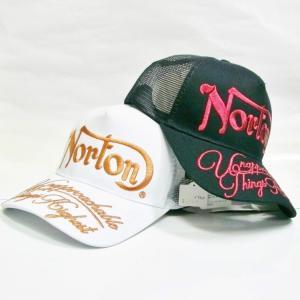 ノートン Norton カラーラメ糸刺繍メッシュキャップ 202N8703 アメカジ ロッカーズ バイカー リゾート|bscrawler