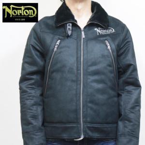ノートン Norton袖エンボスフェイクムートンジャケット 203N1701 アメカジ バイカー ミリタリー 防寒 B-3|bscrawler
