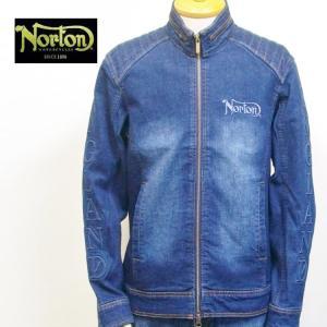 ノートン Nortonストレッチデニムライダースジャケット 211N1600 アメカジ バイカー ロッカーズ|bscrawler