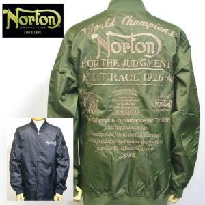 ノートン Norton撥水ナイロンツイルMA-1 211N1601 アメカジ バイカー フライト|bscrawler
