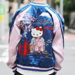 ハローキティ 刺繍スカジャン HKSJ-001 花魁キティ サンリオ 和柄 bscrawler