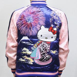 ハローキティ 刺繍スカジャン HKSJ-003 花火花魁 サンリオ 和柄 bscrawler