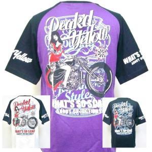 ピークドイエロー PEAK'DYELLOW半袖Tシャツ PYT-219 バイク お姉ちゃん 女の子 大きいサイズXXL 3L|bscrawler
