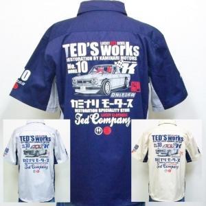 テッドマン TEDMAN×カミナリ半袖ワークシャツ TDKMS-02 アメカジ ワーク ミリタリー ハコスカ bscrawler