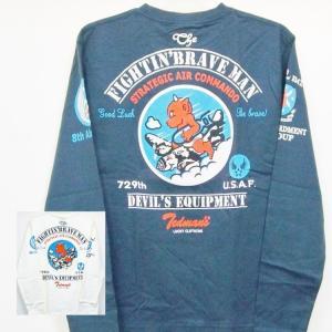 テッドマン TEDMAN ロンT 長袖Tシャツ TDLS-303 FIGHTIN'BRAVE MAN アメカジ バイカー ミリタリー|bscrawler