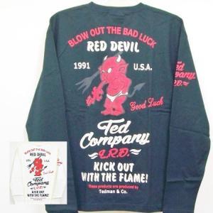 テッドマン TEDMAN ロンT 長袖Tシャツ TDLS314 RED DEVIL アメカジ バイカー ミリタリー|bscrawler