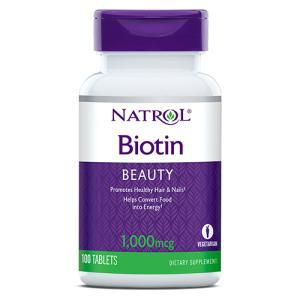 Natrolのビオチンは、一粒にビオチン1mgを配合。少量だから調整しながら飲むことが可能です!女性...