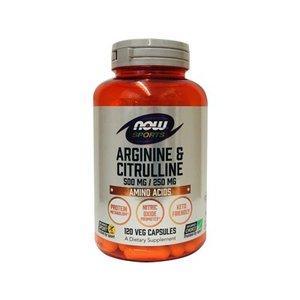 NOW Lアルギニン&Lシトルリン 120粒 NOW社 アミノ酸ダイエット サプリメント NOW スポーツアルギニンシトルリン|bsdiet