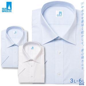 シーブリーズ ワイシャツ 半袖 大きいサイズ メンズ サカゼン 春夏 クールビズ 形態安定 冷感素材 レギュラーカラー SEA BREEZE btclub