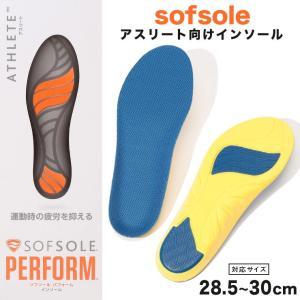 中敷き 靴 大きいサイズ メンズ 温度調整 抗菌機能 パフォーム インソール Athlete ブルー...