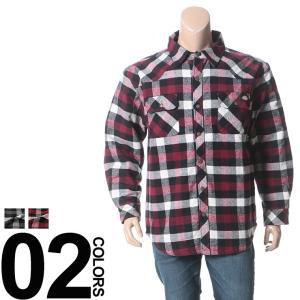 大きいサイズ メンズ シャツ 長袖 1XL 2XL 3XL 4XL Dickies ディッキーズ キルティング加工 中綿 綿100% チェック柄