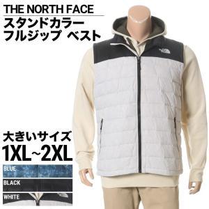 大きいサイズ メンズ ベスト THE NORTH FACE ザ ノースフェイス ナイロン100% ロゴ刺繍 スタンドカラー フルジップ 1XL 2XL|btclub