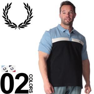 ポロシャツ 半袖 大きいサイズ メンズ サカゼン 綿100% 胸ロゴ トリコロール切り替え FRED...