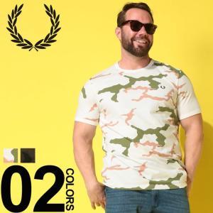 Tシャツ 半袖 大きいサイズ メンズ サカゼン 綿100% 胸ロゴ 迷彩柄 クルーネック フレッドペ...