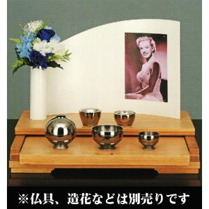 オープン型仏壇フォンテーヌ ホワイトモダン仏壇/手元供養パーソナル供養におすすめリビングや寝室などどの場所にも合わせやすい|btdn