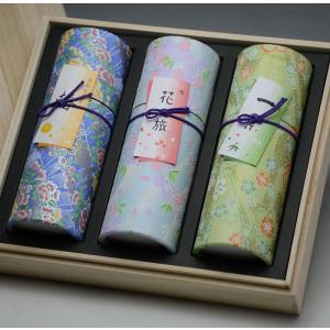 進物線香[微煙]「花くらべロイヤル桐箱入」 贈答用 三種類の香り利休[椿]花の旅[桜]一葉[竹炭] 茶筒 送料無料 喪中御見舞 |btdn