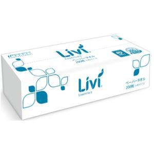 ペーパータオル Livi(リビィ) ミニ 200枚×50パック (食品・衛生・多方面に) 業務用|btobdepot