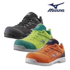 mizuno ミズノ 安全靴 送料無料 作業靴 ミズノ・オールマイティVS 先芯周りにメッシュを使用...