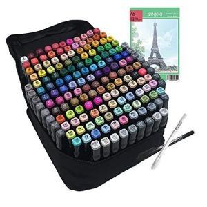 Bavi マーカーペン 水彩筆 イラスト マーカー 油性 セット 2種類のペン先 太字 細字 学生 168本