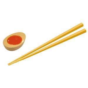 すべらせん箸(上)とラーメンの具の箸置きセット 向日葵&煮卵 AR0623235|bts-shop