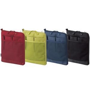 タブレットPCに優しい起毛生地ポケットが付いた薄型バッグインバッグです。