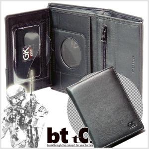 限定 正規輸入品 GK pro 警察専用 パッジ入れデザイン・本革3つ折り財布 bttc
