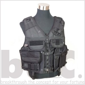 正規輸入品 GK PRO フランス介入部隊専用タクティカルベスト ブラック Tacticknight bttc