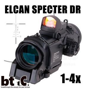 メーカー直送 スコープ&DOCTERサイト ポーチ付き ANS optical 1倍/4倍切替 ELCAN SPECTOR DR  レプリカセットBK  bttc