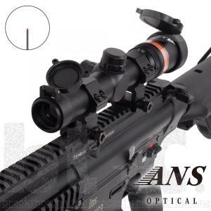 メーカー直送 ショートライフルスコープ ANS optical 1.5-6倍 可変ズーム電池不要RED/GREENイルミネーション  ショートライフルスコープ bttc