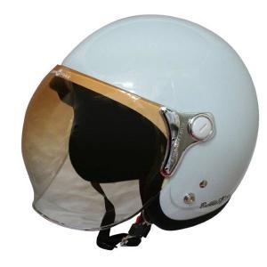 ダムトラックス(DAMMTRAX) ジェットヘルメット BUBBLE-BEE P.ホワイト|bucklebunny