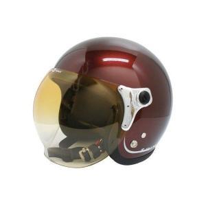 ダムトラックス(DAMMTRAX) ジェットヘルメット BUBBLE-BEE マルーン フリーサイズ(57CM〜60CM未満)|bucklebunny