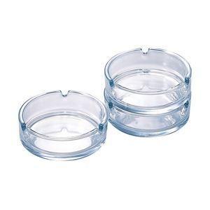 ガラス灰皿 透明 丸 12個入|bucklebunny
