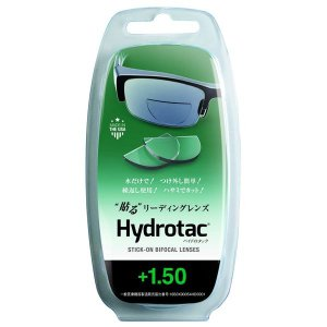 ハイドロタック 貼る リーディングレンズ 老眼鏡 度数+1.50 透明 Hydrotac +1.50 bucklebunny