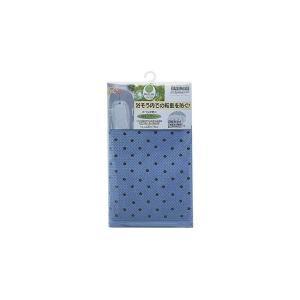 スベリを防ぐ 浴槽マット/お風呂マット 〔ブルー〕 35×76cm 天然ゴム製 表面:エンボス加工 bucklebunny