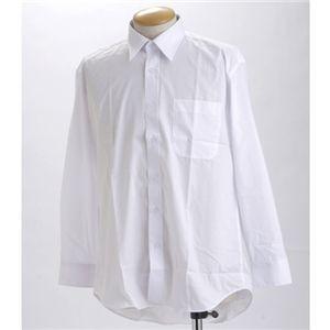 ブラック & ホワイト ワイシャツ2枚セット 長袖 M 〔 2点お得セット 〕