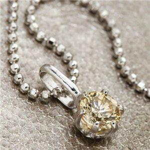 K18WG 0.3ctライトブラウンダイヤモンド一粒ネックレス(18金ホワイトゴールド)156586 42cm|bucklebunny