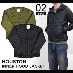 HOUSTON (ヒューストン) INNER HOOD JACKET インナー フード ジャケット メンズ 中綿ジャケット