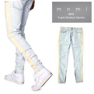 mnml ミニマル デニムパンツ M75 Track Stretch Denim Blue M75デ...
