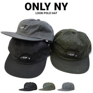 67a0bccae99 ONLY NY オンリーニューヨーク LOON POLO HAT CAP 6-PANEL CAP キャップ ストラップバックキャップ 帽子