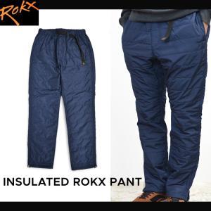 ROKX (ロックス) INSULATED ROKX PANT 中綿パンツ テーパード メンズ 中綿入り カジュアルパンツ ダウンパンツ|buddy-stl