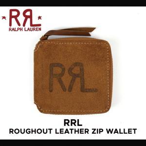 RRL by Ralph Lauren ラルフローレン ダブルアールエル ROUGHOUT LEATHER ZIP WALLET レザー ジップ ウォレット 財布 スエードレザー メンズ|buddy-stl